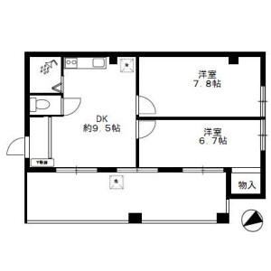 2DK Mansion in Nakajuku - Itabashi-ku Floorplan