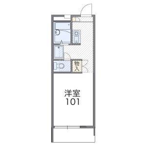 1K Apartment in Kitadenen - Fussa-shi Floorplan