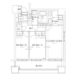 2LDK Mansion in Yushima - Bunkyo-ku Floorplan