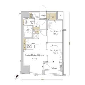 2LDK Mansion in Nihombashikakigaracho - Chuo-ku Floorplan