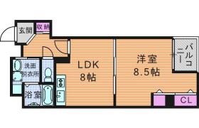 1LDK Apartment in Yariyamachi - Osaka-shi Chuo-ku