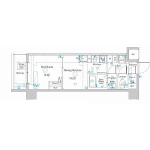 1DK Mansion in Nishiarai - Adachi-ku Floorplan