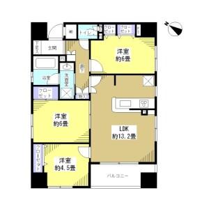 3LDK Apartment in Meguro - Meguro-ku Floorplan