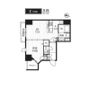 1LDK Apartment to Rent in Chiyoda-ku Floorplan