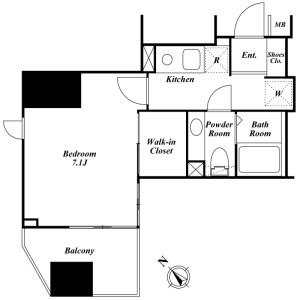 豊岛区南大塚-1K公寓大厦 楼层布局