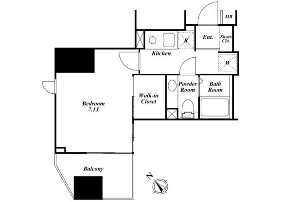 在豊島區內租賃1K 公寓大廈 的房產 房間格局