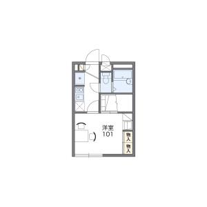 1K Apartment in Kitaharacho - Nishitokyo-shi Floorplan