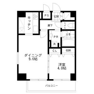 文京區本郷-1LDK公寓大廈 房間格局