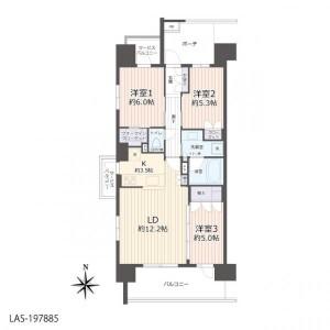 3LDK Apartment in Machiya - Arakawa-ku Floorplan