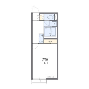 1K Apartment in Matsugaokacho - Hirakata-shi Floorplan