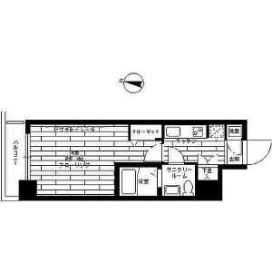 1K Mansion in Kandahigashimatsushitacho - Chiyoda-ku Floorplan