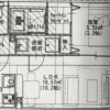 1LDK Apartment to Rent in Fukuoka-shi Hakata-ku Floorplan
