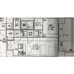 1LDK Mansion in Hakataeki minami - Fukuoka-shi Hakata-ku Floorplan