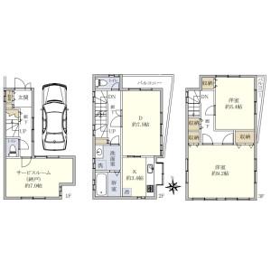 3LDK House in Kawadacho - Shinjuku-ku Floorplan