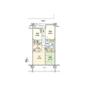 3LDK {building type} in Urafunecho - Yokohama-shi Minami-ku Floorplan