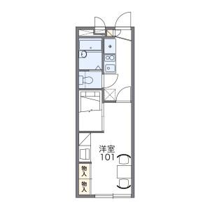 府中市幸町-1K公寓 房間格局