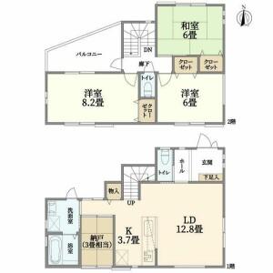 3SLDK {building type} in Imamiya - Mino-shi Floorplan