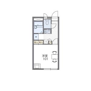 福岡市東区香住ケ丘-1K公寓 楼层布局