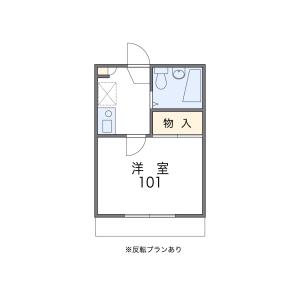 1K Apartment in Bukkoji nishimachi - Kyoto-shi Shimogyo-ku Floorplan