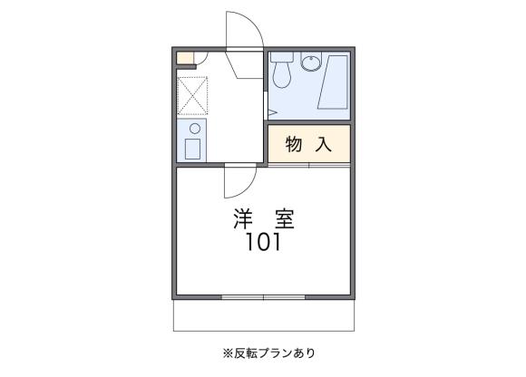 1K Apartment to Rent in Kyoto-shi Shimogyo-ku Floorplan