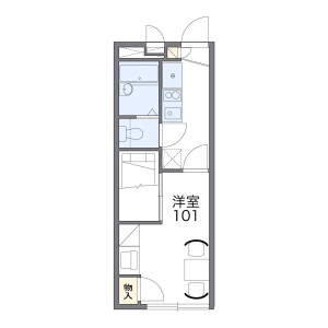 1K Apartment in Shimizugaoka - Fuchu-shi Floorplan