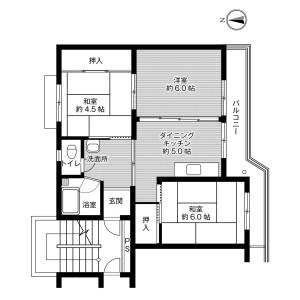 彦根市 肥田町 3DK マンション 間取り