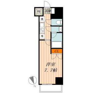 1K Apartment in Nishigokencho - Shinjuku-ku Floorplan