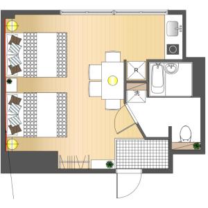 1K Apartment in Nishihara - Shibuya-ku Floorplan