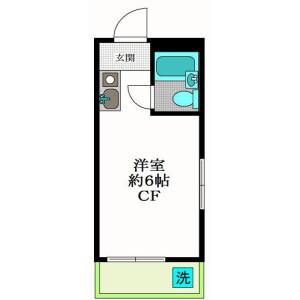 1R Apartment in Honcho - Nakano-ku Floorplan