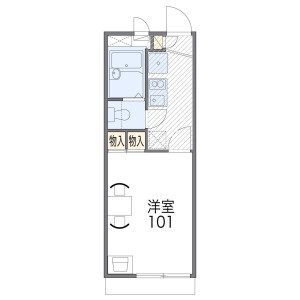 1K Apartment in Dairyo - Osaka-shi Sumiyoshi-ku Floorplan