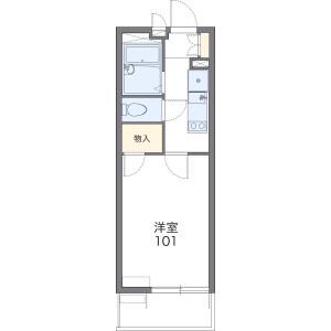 1K Mansion in Honcho - Toda-shi Floorplan