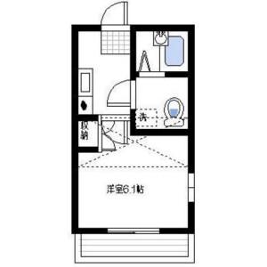 1K Apartment in Yasuracho - Yokosuka-shi Floorplan