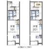 1R Apartment to Rent in Fuchu-shi Floorplan