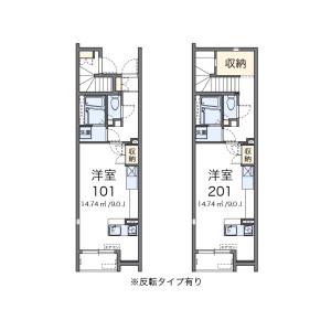 1R Apartment in Nishifucho - Fuchu-shi Floorplan