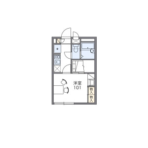 1K Apartment in Shinsayama - Sayama-shi Floorplan