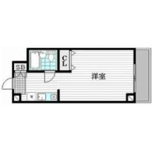 1R {building type} in Megurohoncho - Meguro-ku Floorplan