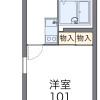在大阪市天王寺区内租赁1K 公寓 的 楼层布局