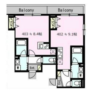 1R Mansion in Kakinokizaka - Meguro-ku Floorplan