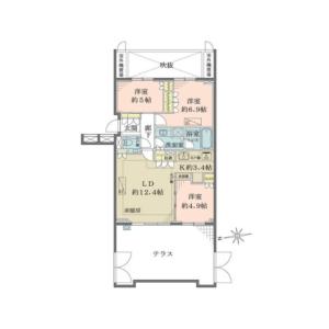 世田谷區代沢-3LDK{building type} 房間格局