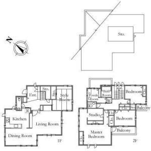 4SLDK House in Hakusan(2-5-chome) - Bunkyo-ku Floorplan
