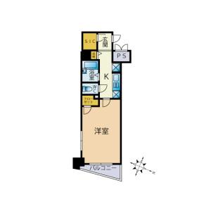 1K Mansion in Hatsudai - Shibuya-ku Floorplan