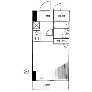 1R Mansion in Higashiogu - Arakawa-ku Floorplan