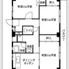 3DK Apartment to Rent in Kai-shi Floorplan
