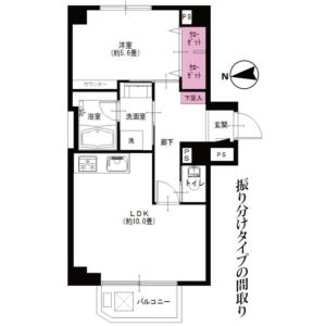 1LDK {building type} in Nogata - Nakano-ku Floorplan