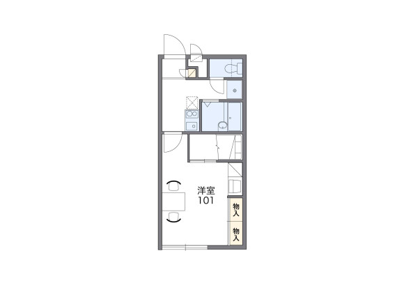 1K Apartment to Rent in Mie-gun Kawagoe-cho Floorplan