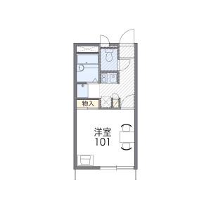 1K Mansion in Edanishi - Yokohama-shi Aoba-ku Floorplan