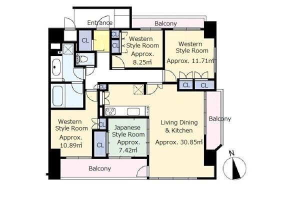 4LDK Apartment to Buy in Otsu-shi Floorplan