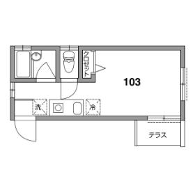 1R Apartment in Nishishinagawa - Shinagawa-ku Floorplan