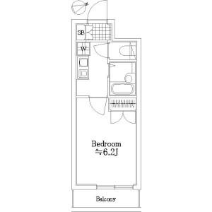1K Mansion in Seta - Setagaya-ku Floorplan
