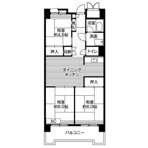 3DK Mansion in Yashio - Shinagawa-ku Floorplan